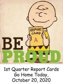 1st Quarter Report Cards